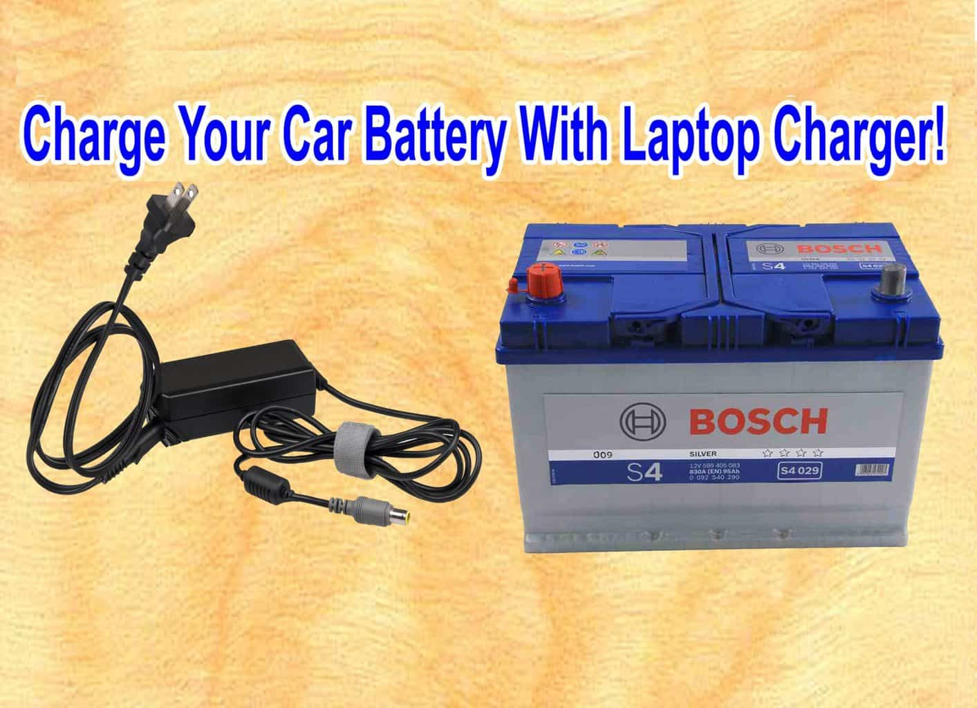 Charge a car battery with latop charger
