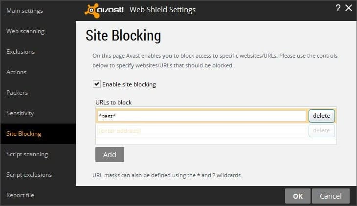 Avast internet security site blocker for parental control