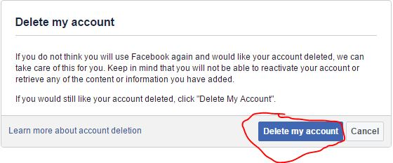How to delete Facebook account with in 14 days