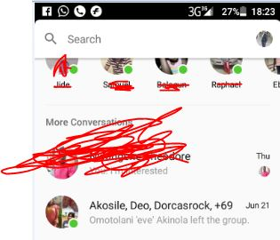 Leave a Facebook group chat on messengers