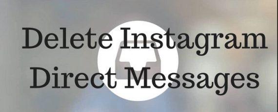 Delete Instagram DMS