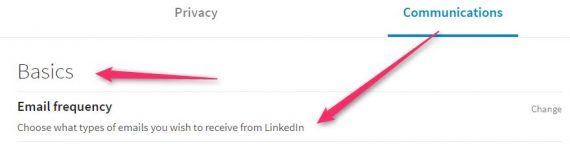 Turn off LinkedIn Notifications