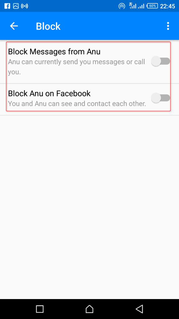 Block Facebook User on Messenger