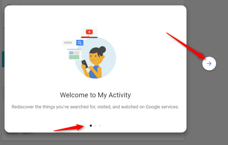 Google account activity page