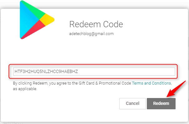 How to redeem valid Google Promo codes
