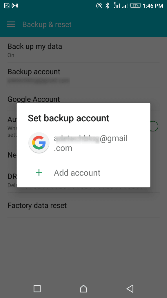 Google phone contacts backup