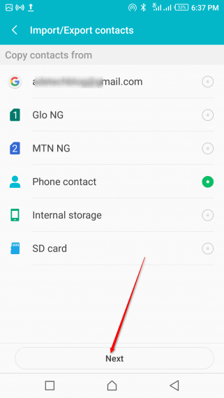 Transfer contacts from phone to phone (3)