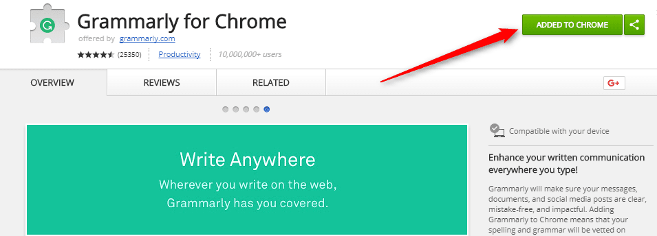 Download Grammarly for Chrome
