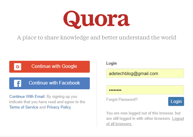 Download Quora App