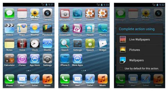 iPhone launchers