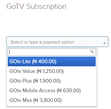 Pay GoTv Subscription