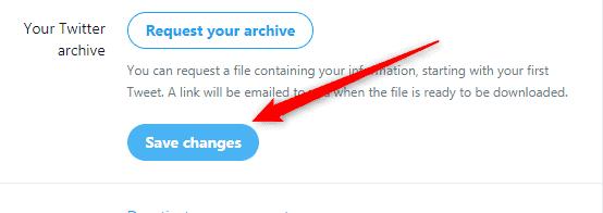Change Twitter handle