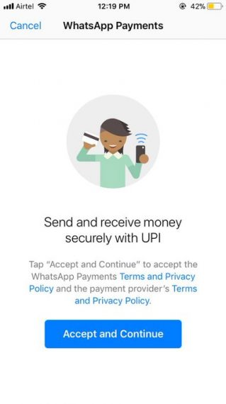 Transfer Money on WhatsApp