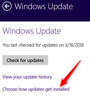 Disable Windows 8/8.1 Automatic Update