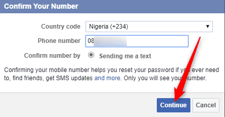 How to Change Facebook mobile number