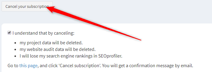 How to Cancel SEOProfiler Free Trial