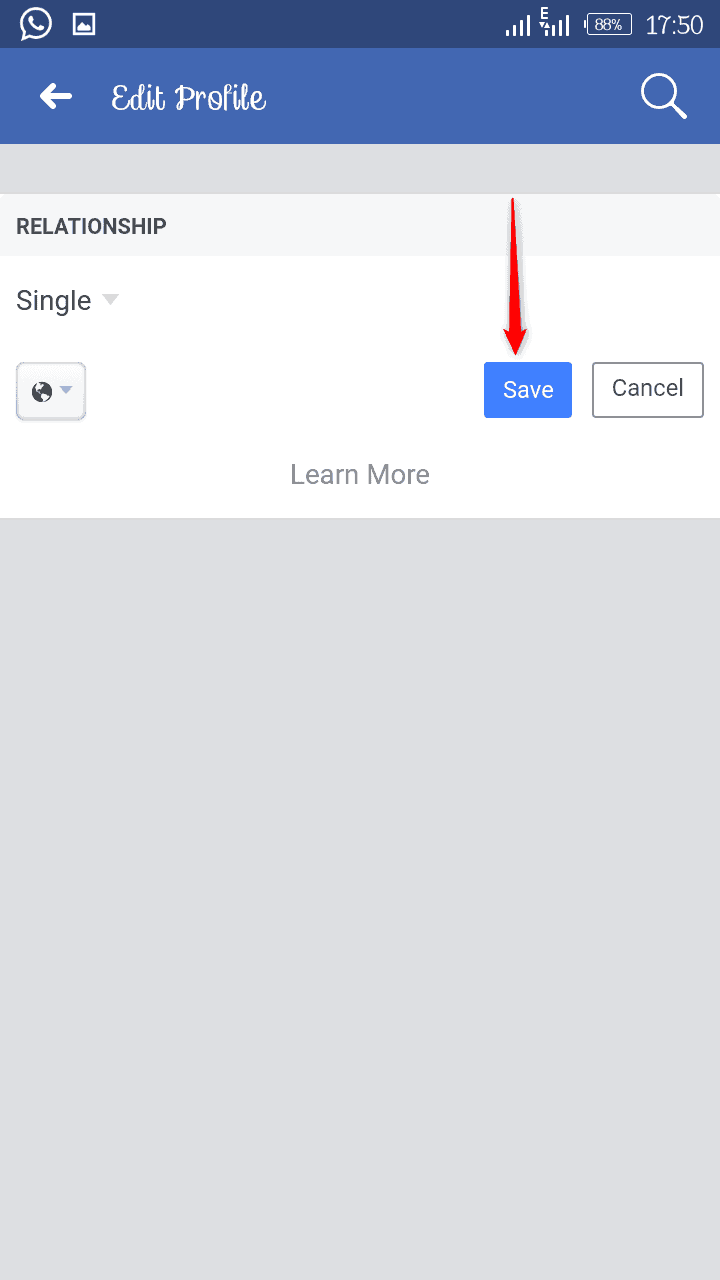 Change Facebook Relationship Status