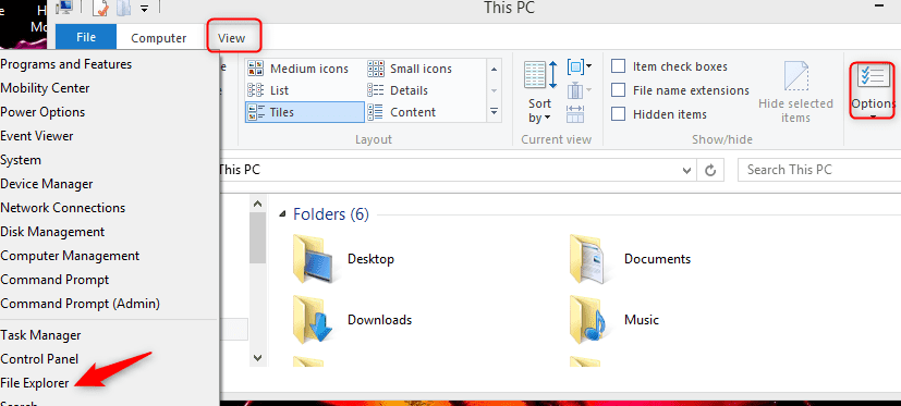 View Hidden Files in Windows 10