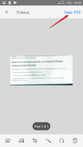 How to Scan Documents on Android Phone Using Adobe Reader