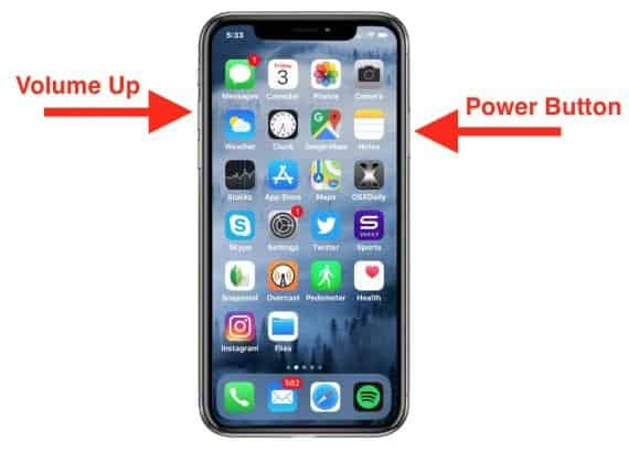 How to Take a Screenshot on iPhone XL