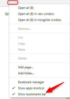 Disable Google Chrome Bookmarks