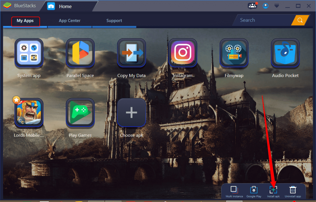 vShare APK install on PC